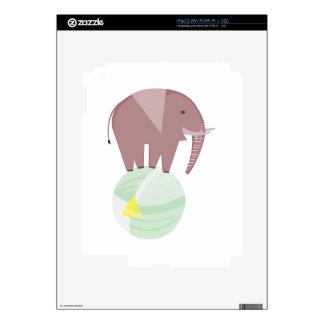 Elefante en bola calcomanía para el iPad 2