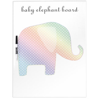 elefante en colores pastel tableros blancos