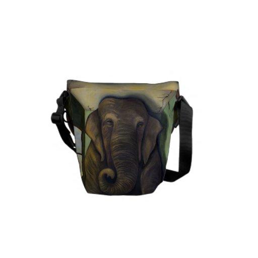 Elefante en el cuarto bolsas messenger