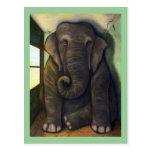 Elefante en el cuarto postal