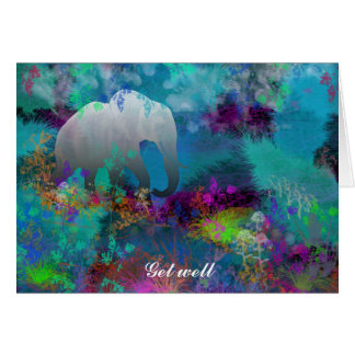 Elefante en Fantasyland - tarjetas para todo el
