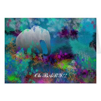Elefante en Fantasyland - tarjetas para todo el Oc