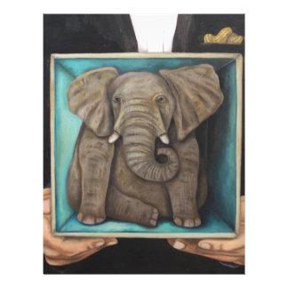 Elefante en la caja membrete personalizado