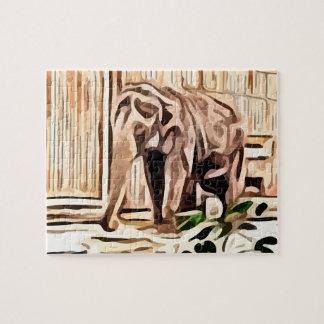 elefante. en la pintura del cautiverio puzzle