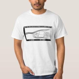 Elefante en un túnel de viento (camiseta llana) camisas