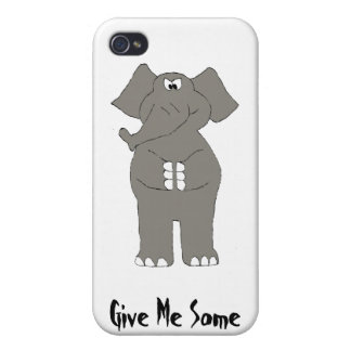 Elefante enojado del dibujo animado iPhone 4 carcasa