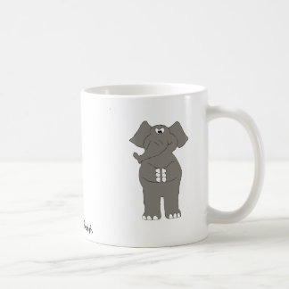 Elefante enojado del dibujo animado taza de café