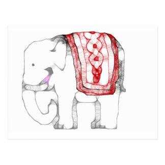 Elefante enrrollado postal