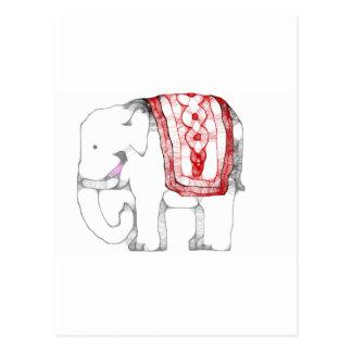Elefante enrrollado tarjetas postales