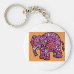 elefante enrrollado vivo de la pintada llavero
