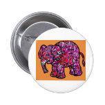 elefante enrrollado vivo de la pintada pin