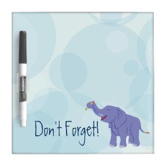 Elefante feliz pizarra blanca