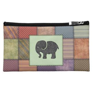 Elefante femenino lindo de moda del remiendo del
