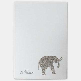 Elefante femenino lindo de moda personalizado notas post-it