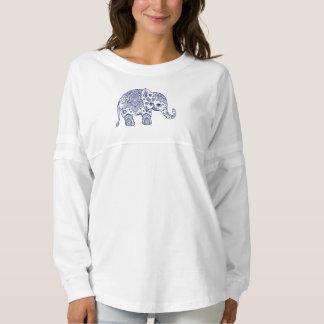 Elefante floral azul de Paisley