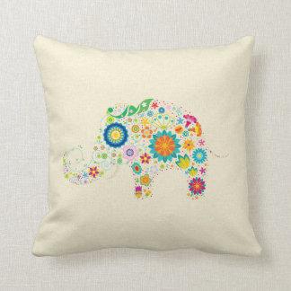 Elefante floral almohadas