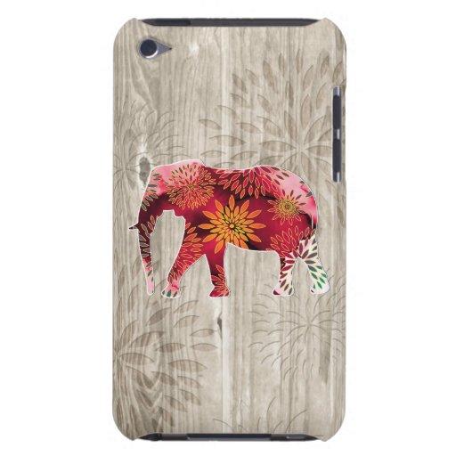 Elefante floral colorido caprichoso en el diseño d Case-Mate iPod touch coberturas