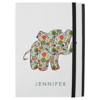Elefante floral colorido del bebé