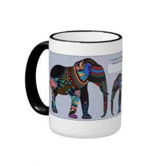 Elefante grande, pequeña taza del día de padre del