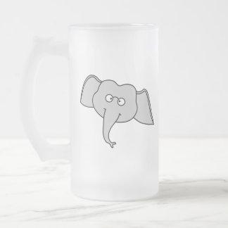Elefante gris con los vidrios. Historieta Taza De Café