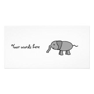 Elefante gris del bebé tarjeta personal
