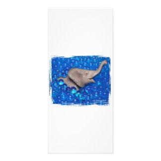 Elefante gris del juguete en burbujas azules lonas personalizadas