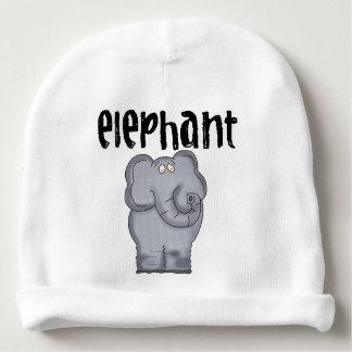 Elefante gris gorrito para bebe