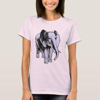 Elefante gris grande playera