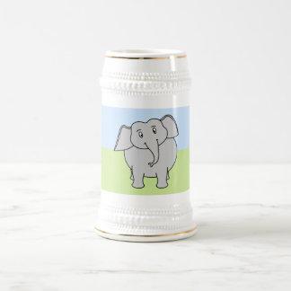 Elefante gris jarra de cerveza
