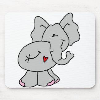 Elefante gris lindo alfombrillas de ratón