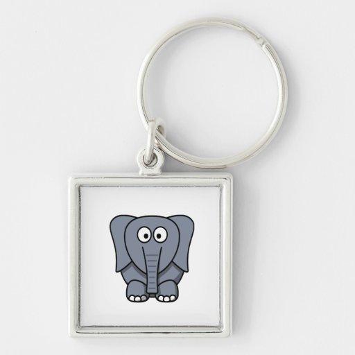 Elefante gris lindo para los niños de todo el llav llavero