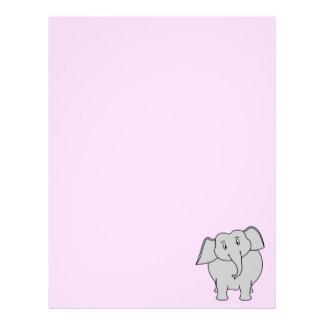 Elefante gris membretes personalizados