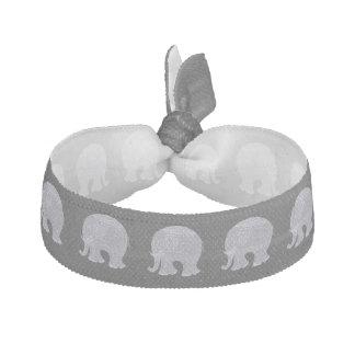 Elefante gris muy lindo del doodle elástico para el pelo