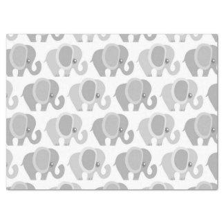 Elefante gris neutral del bebé hermoso papel de seda grande