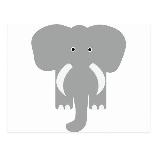 elefante gris tarjetas postales