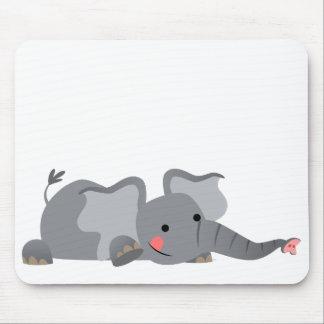 Elefante hambriento Mousepad del dibujo animado li