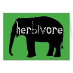 Elefante - herbívoro felicitación