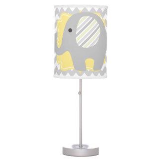 Elefante hermoso del bebé o del neutral de la lámpara de mesa