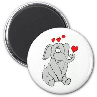 elefante imán redondo 5 cm