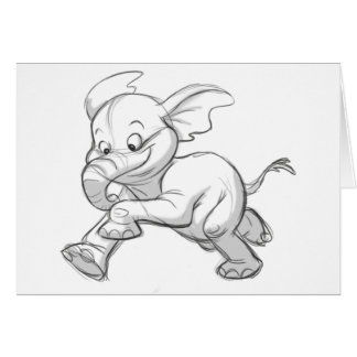 Elefante incompleto del bebé tarjeta de felicitación