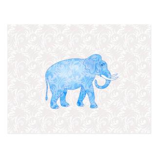Elefante indio azul del modelo postal