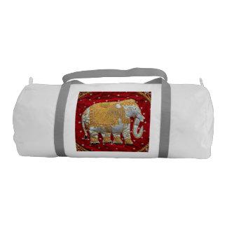 Elefante indio embellecido bolsa de deporte