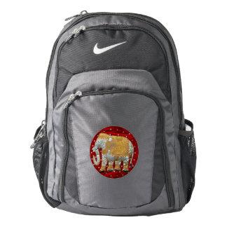 Elefante indio embellecido mochila