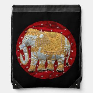 Elefante indio embellecido mochilas