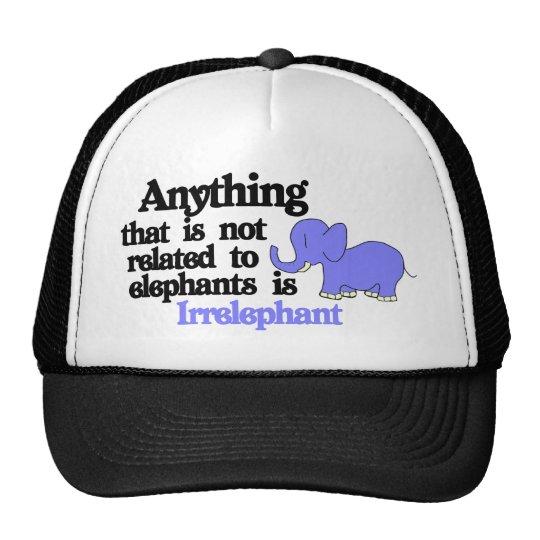 Elefante inútil gorros