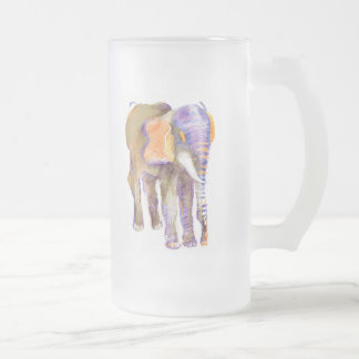 elefante jarra de cerveza esmerilada