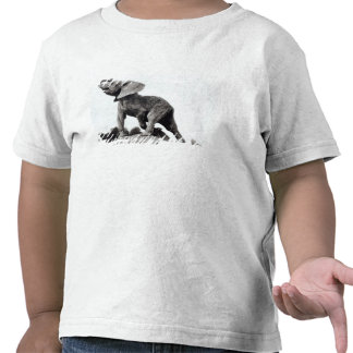 Elefante joven cogido en una trampa camiseta