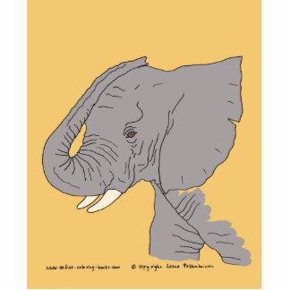 Elefante joven fotoescultura vertical