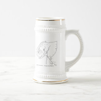 Elefante joven tazas de café