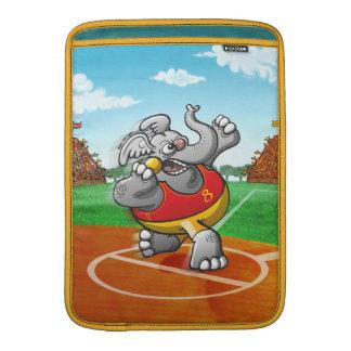 Elefante lanzamiento de peso fundas MacBook